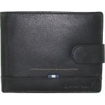 Οριζόντιο δερμάτινο πορτοφόλι  με προστασία RFID. Diplomat MN112. Μαύρο