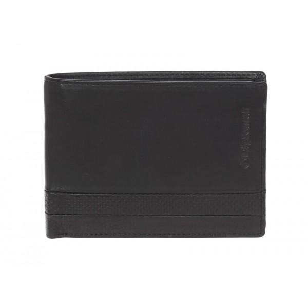Οριζόντιο πορτοφόλι με άνοιγμα επάνω και προστασία για RFID Diplomat MN438 Black