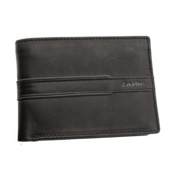 Δερμάτινο πορτοφόλι, χωράει ταυτότητα, Lavor - Wallet - black 1-5814