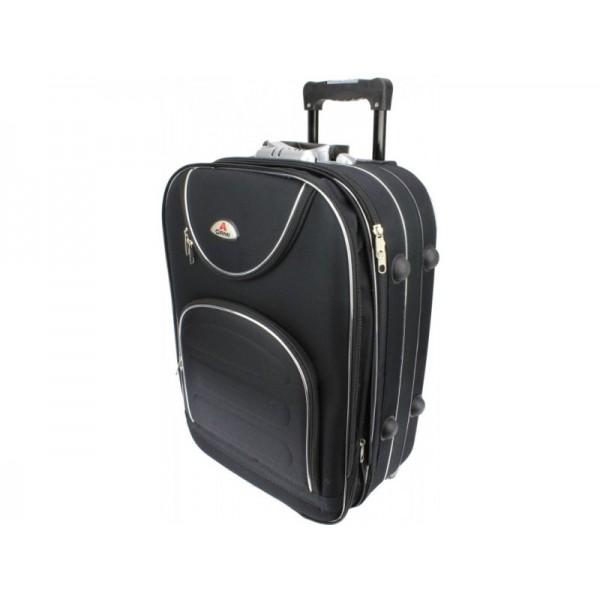 Υφασμάτινη βαλίτσα καμπίνας ORMI  54x40x20 μαύρο