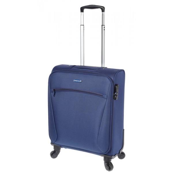 Βαλίτσα καμπίνας με 4 ρόδες Diplomat 614-55 μπλε