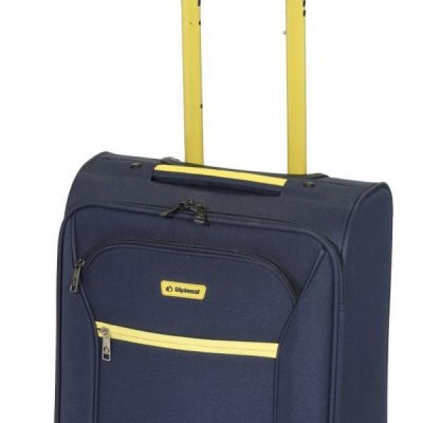 Diplomat ZC 974-71 μεγάλη βαλίτσα τρόλεϊ με 4 ρόδες μπλε