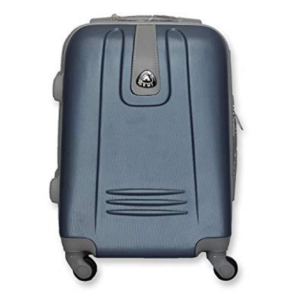Μεγάλη σκληρή βαλίτσα με 4 Ροδάκια Μπλε