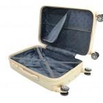 Καμπίνας βαλίτσα ABS πλαστικό εκρού RB9028C 55X40X20 RAIN
