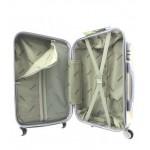 Μεγάλη  βαλίτσα σκληρή ABS QIAOFEI ΜΑΥΡΗ