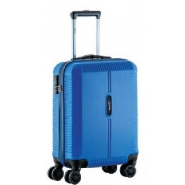 Βαλίτσα μικρή-καμπίνας με 4 διπλές ρόδες Rain RB8083 Μπλέ φωτεινό