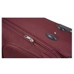 Μεγάλη βαλίτσα τρόλεϊ με 4 ρόδες & επέκταση Μπορντώ ORMI  75cm