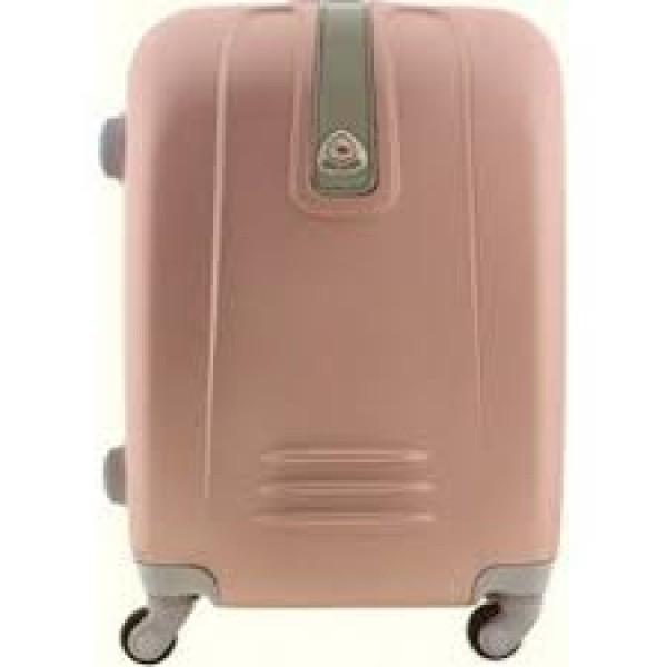 Ροζ χρυσό μεγάλη βαλίτσα 75Χ50Χ28εκ ΟΕΜ