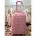 Βαλίτσα Τρόλευ Ροζ Πουά χειραποσκευή, βάπτισης
