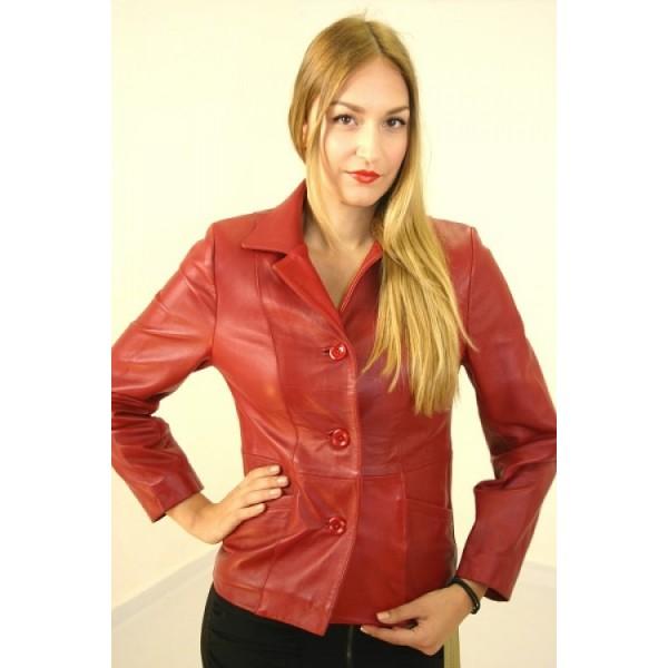 Δερμάτινο γυναικείο red Leather jacket