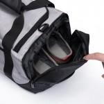 Σάκος / Πλάτης Γυμναστηρίου με Θήκη Παπουτσιών OZUKO 9005, αδιάβροχος Μαύρο