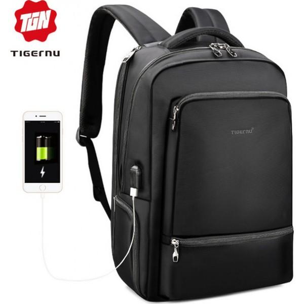 "Tigernu T-B3585 Αδιάβροχη Τσάντα Πλάτης για Laptop 15.6"" σε Μαύρο χρώμα"