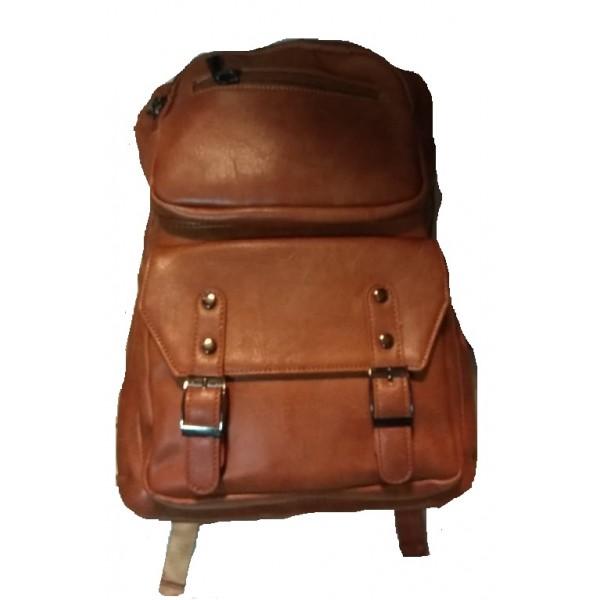Backpack σακίδιο Laptop Καφέ-ταμπά με θύρα USB, ERRES 23