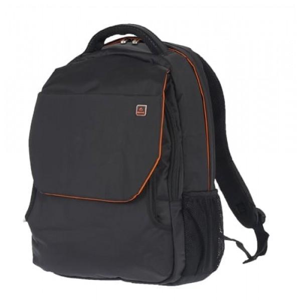 Μεγάλη Τσάντα πλάτης ενισχυμένη με καπάκι Diplomat le66 black