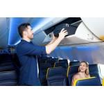 Ryanair 55Χ40Χ20cm καμπίνας απόλυτη διαστάσεων Diplomat ZC930 μαύρη