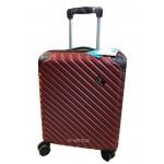 Βαλίτσα καμπίνας τύπου RYANAIR με επέκταση τύπου AEGEAN RAIN RB 9008C-55 μπορντώ