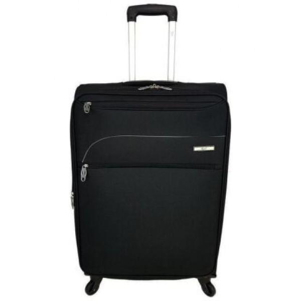 Βαλίτσα μεγάλη  RB9010 ελαφρυ αδιάβροχο υλικό μαύρη με 4 ρόδες