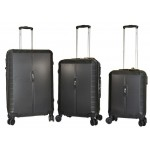 Βαλίτσες set με 4 διπλές ρόδες Rain RB8083 Μαύρο.