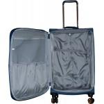 Βαλίτσα με 4 διπλές ρόδες ελαφριά με επιπλέον επέκταση Bolatu MS155108 Medium Blue