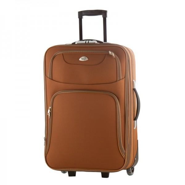 Bαλίτσα μεσαία Τρόλεϊ Rain 6050 -65 καφέ