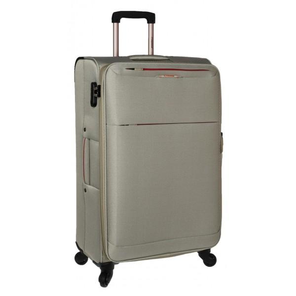 Βαλίτσα Μεγάλη με 4 ρόδες υφασμάτινη Diplomat 6040 Μπεζ-Χρυσό