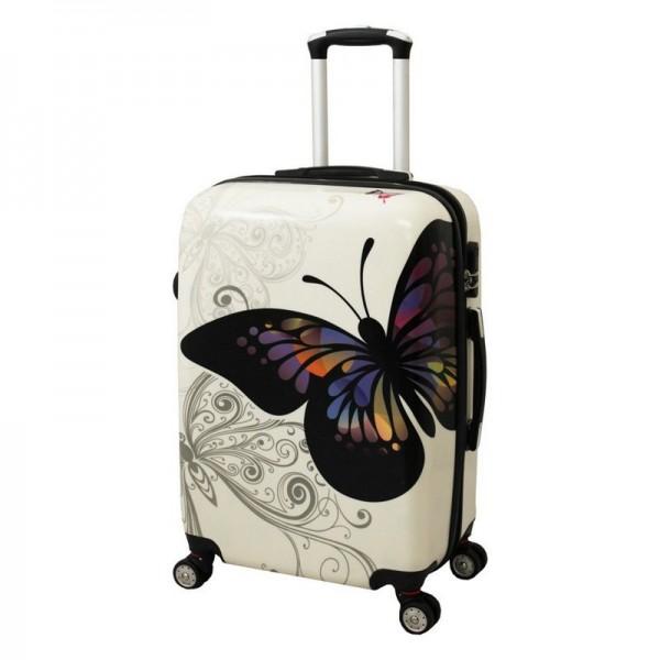 Πεταλούδα μεσαία λευκή με τύπωμα
