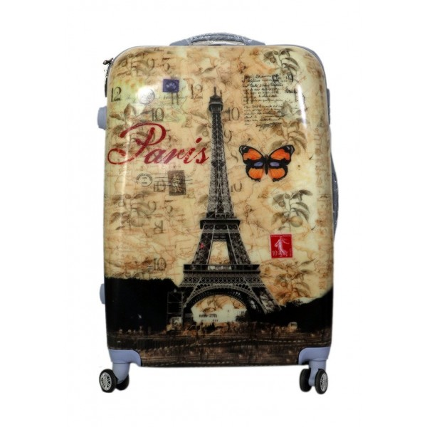 Mεγάλη βαλίτσα ABS  ΑΙΦΕΛ με ρόδες 75 εκατοστά