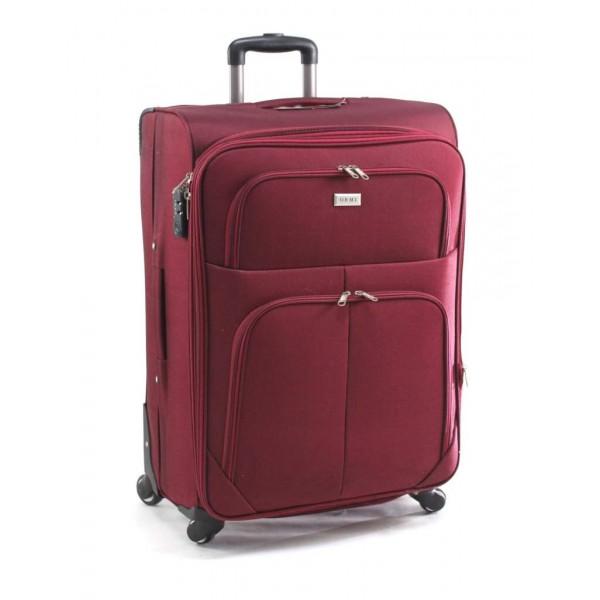 μεγάλη βαλίτσα τρόλεϊ με 4 ρόδες μπορντώ ORMI  75cm