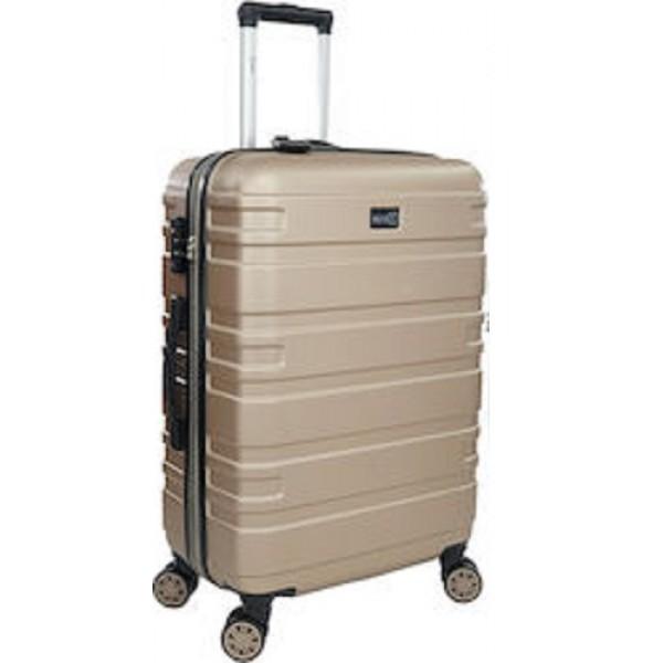 Rain RB80104 Μεσαία Βαλίτσα με ύψος 67cm σε gold χρώμα