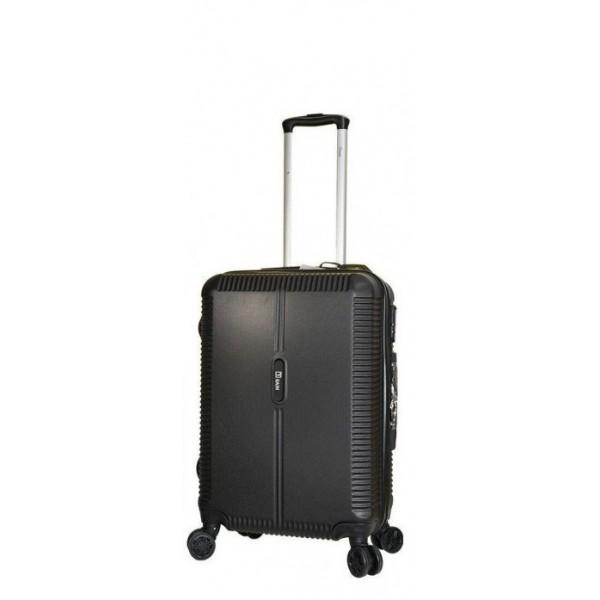 Μεσαία βαλίτσα με 4 διπλές ρόδες και επέκταση RAIN RB8083-24 μαύρο