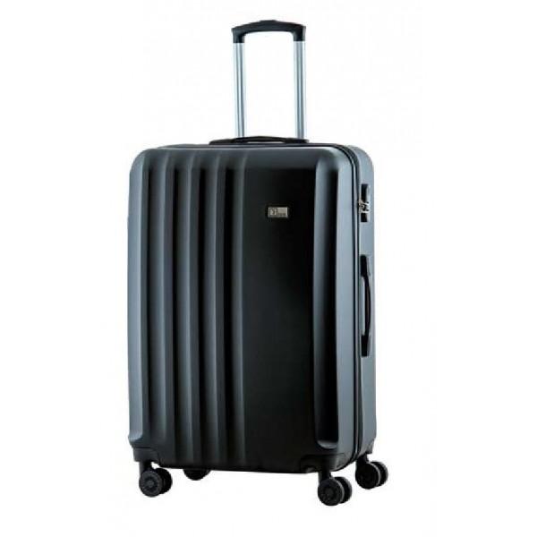Βαλίτσα RB9660 RAIN σκληρή μεσαία με 4 διπλές ρόδες μαύρη