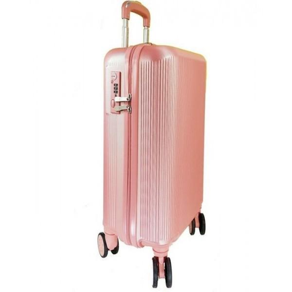 Μεσαία βαλίτσα FORECAST A722-65cm ροζ