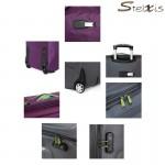 Βαλίτσα Μεγάλη Υφασμάτινη 2 Ρόδες Stelxis premium Diplomat ST 102-L μωβ