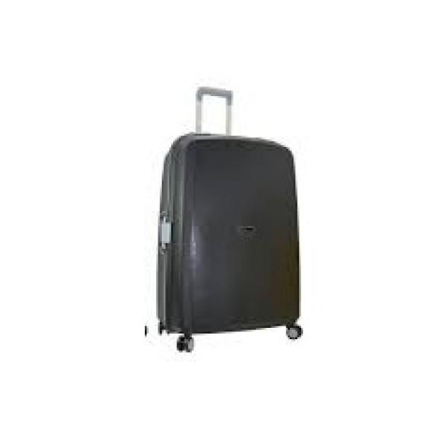 Μεγάλη σκληρή βαλίτσα Stelxis 515 Large premium μαύρη με κούμπωμα