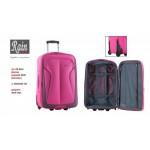 Βαλίτσα τρόλεϊ μεσαίο Rain RB 9040 ροζ/ανθρακί