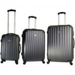 Σετ βαλίτσες 3 τεμαχίων Forecast DQ110 με επέκταση ανθρακί/μαύρο