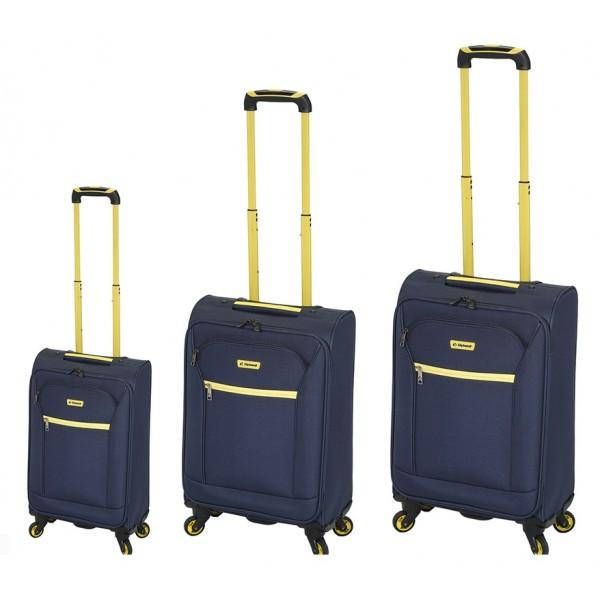 Σετ βαλίτσες 3 τεμαχίων Diplomat ZC 974 51-61-71 ελαφριές μπλε